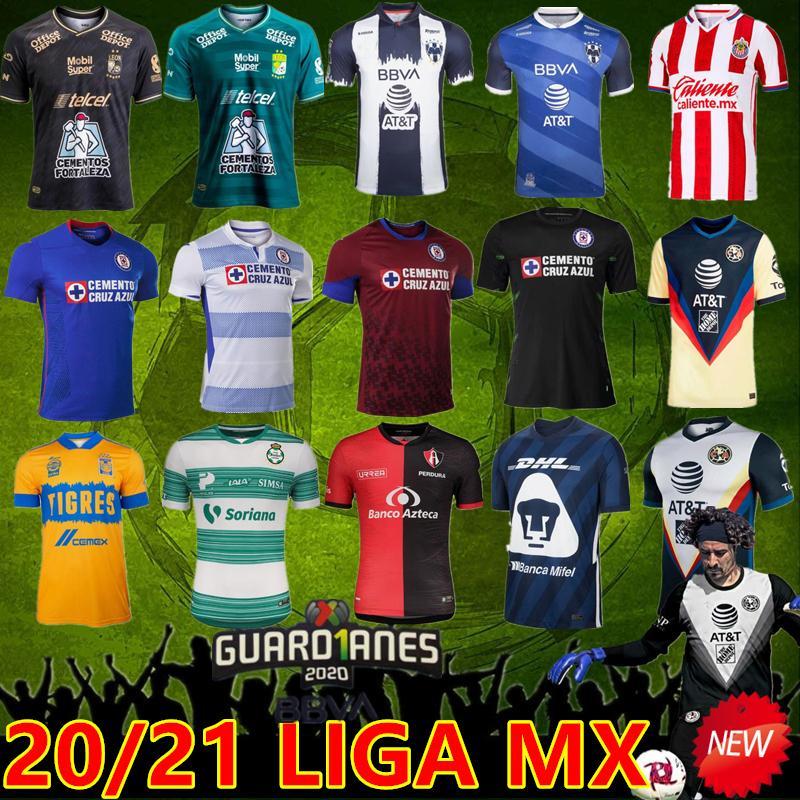 2021 المكسيك جيرسي كلوب أمريكا لكرة القدم الفانيلة Liga MX Monterrey Pachuca Guadalajara Chivas Tigres Unam Cruz Azul كرة القدم قميص حارس مرمى