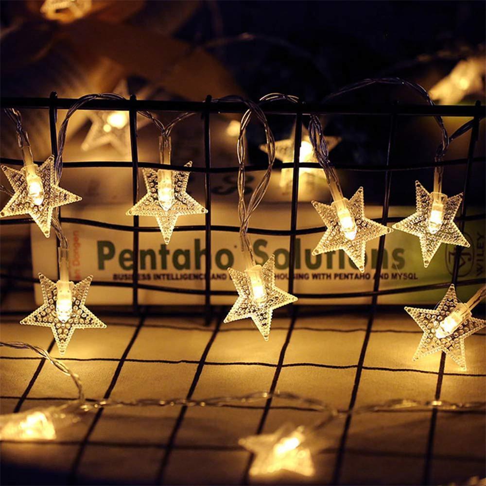 10/20/40/80 LED Star Light Cordas Twinkle Guirlandas alimentado por bateria de casamento decorativas de Luzes da festa natalícia Lâmpada do Natal