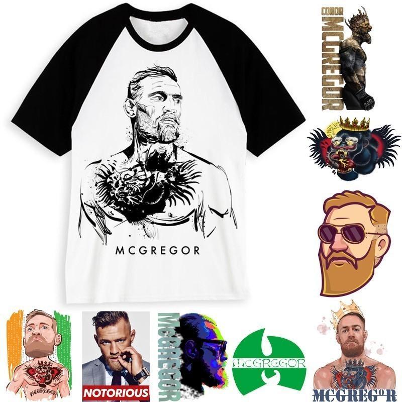 Moda T-shirt Marca MMA Conor Mcgregor Para Homem / Mulher engraçada T Shirt Boxer Mcgregor Branca manga curta Casual Tees masculino / feminino