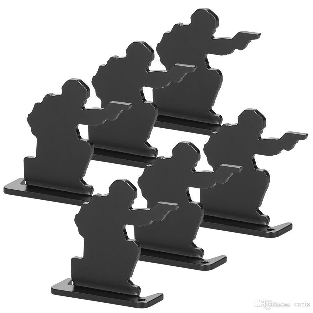 Nuovo arrivo tattico nero tiro al bersaglio (6pcs) bersaglio di sport esterno della ripresa Usa libera il trasporto CL36-0019