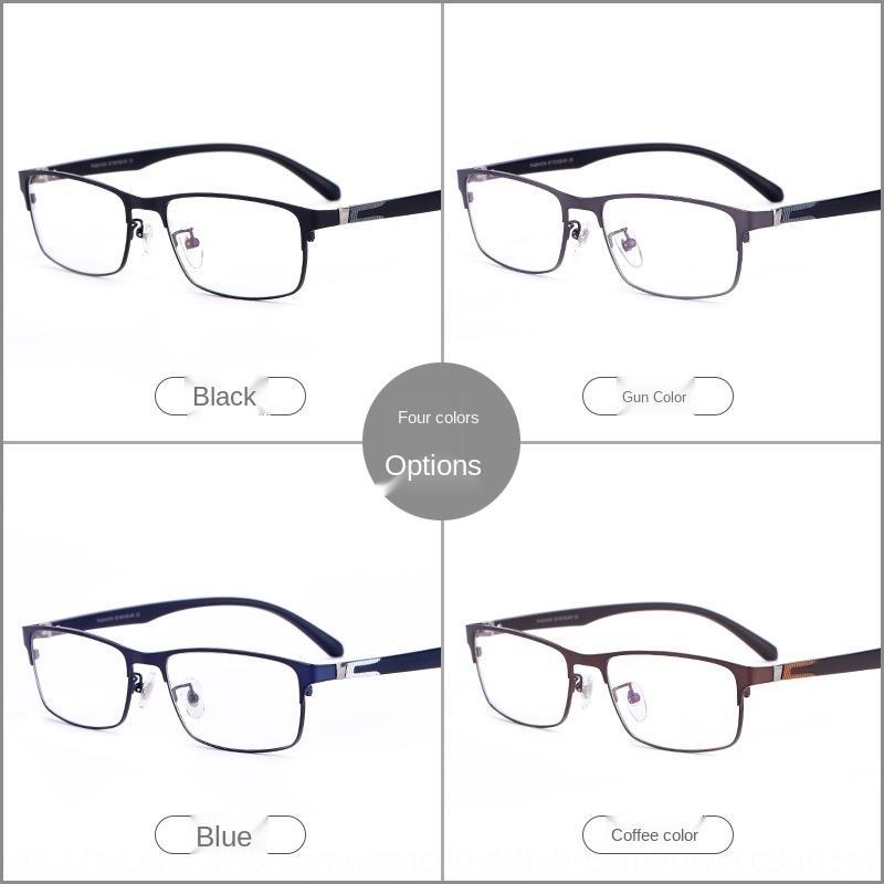 La miopía de negocios de los nuevos hombres de aleación yJy5T marco de los vidrios de la miopía completa cómodo marco de los vidrios de presbicia M805