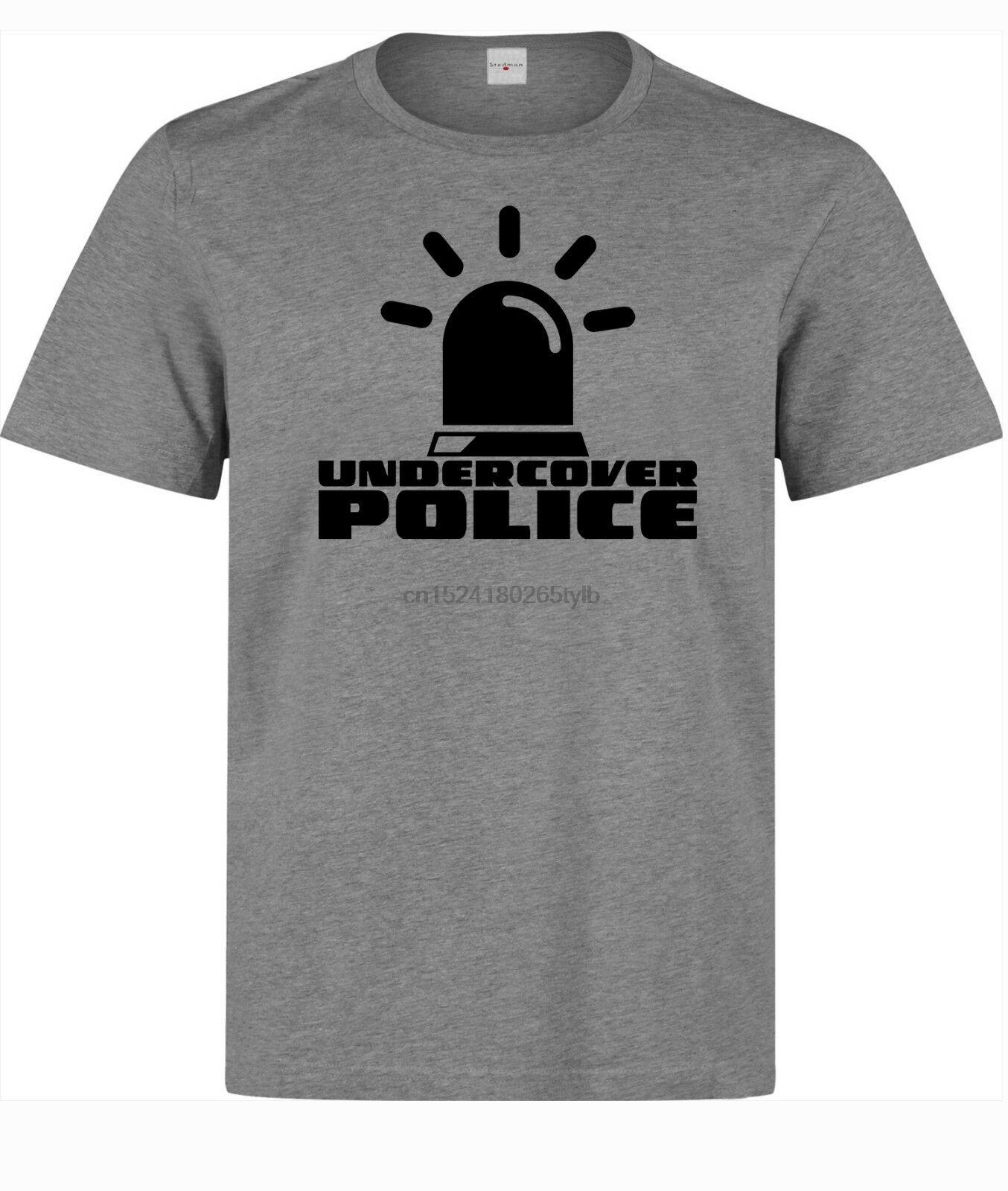 Тайные полиции смешного черный Siren мужских (бабы) доступны серая тенниска