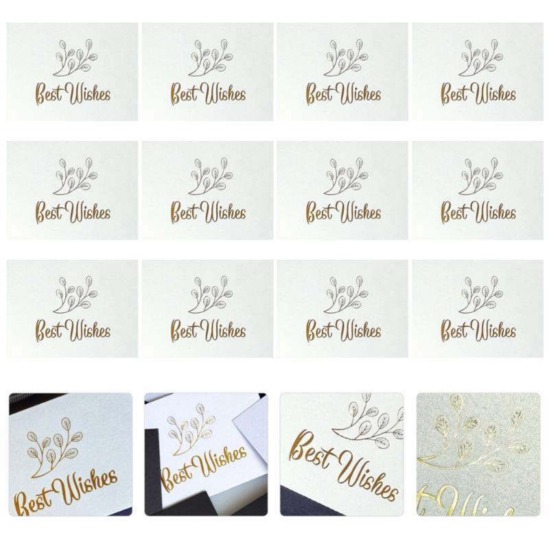 1 комплект 100шта карты Нежная Декоративные Шикарная Красивая Практическая Elegant Blessing открытка Поздравительная для рождения Congratulatio