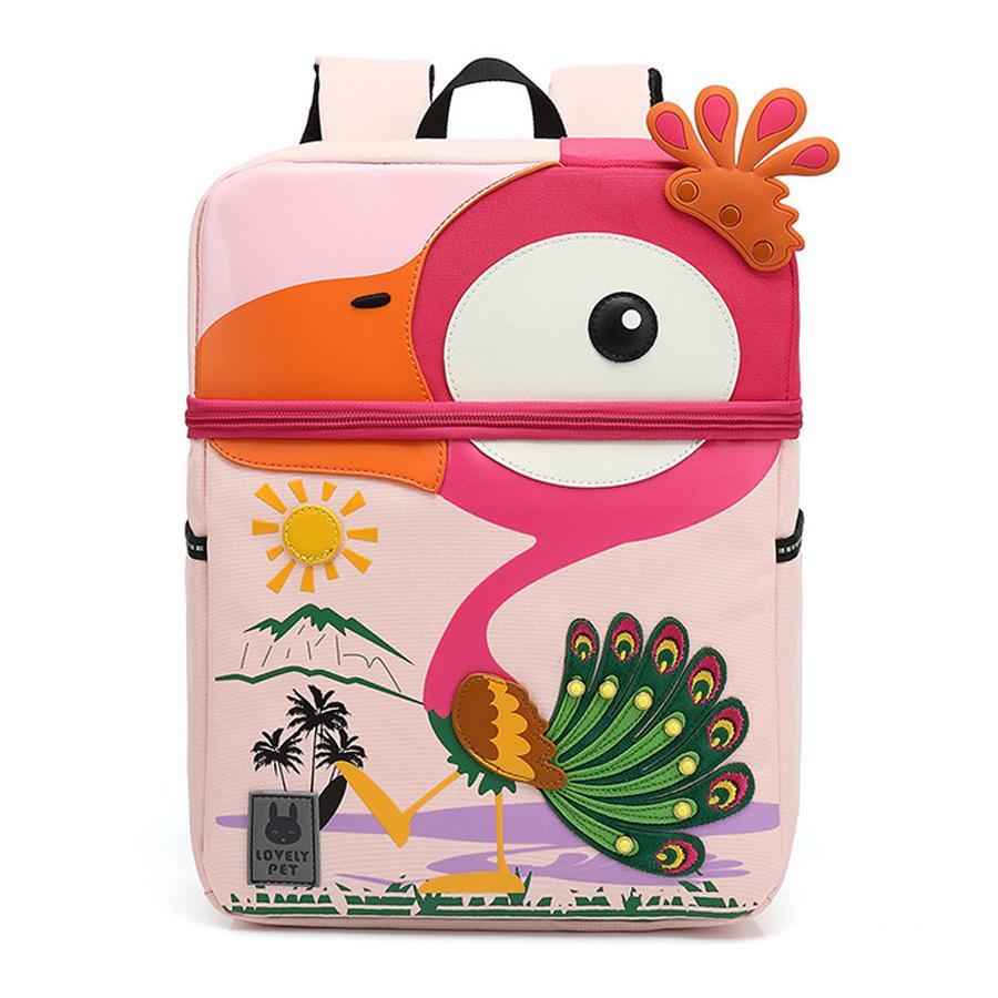 Escuela Preescolar Nueva 3D bolsa para niños del pavo real del bebé de la historieta Modelo Edad 3-6 regalo de los niños linda del niño perdido Schoolbags Anti-200919