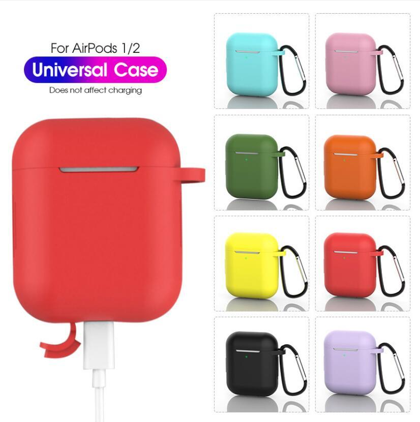 For Airpods Wireless Headset Silicone Sleeve Bluetooth Headset 1/2 Generation Universal Dust-proof and Drop-proof Protective Shell