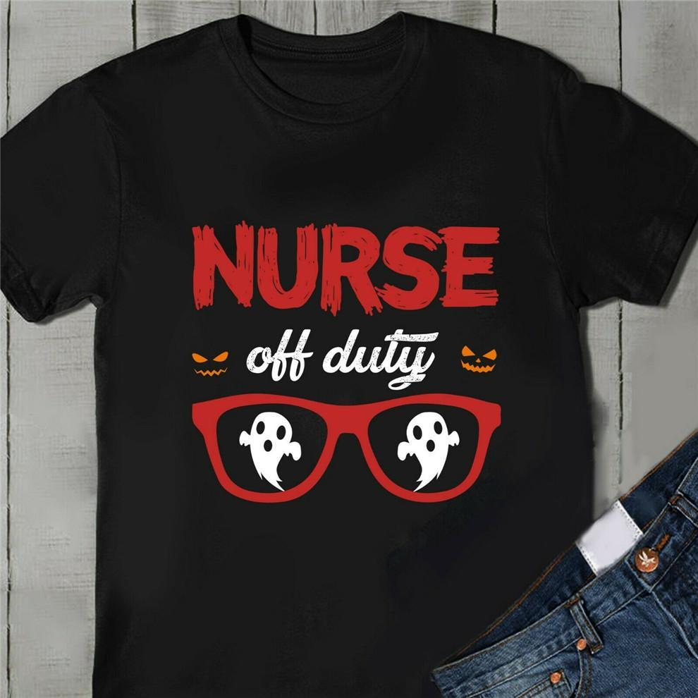 Boo Nurse Ghost Off Duty Halloween T-shirt unisexe Nouveau drôle T-shirt