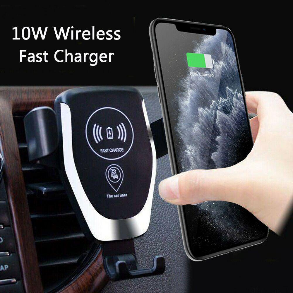 Otomatik Yerçekimi Qi Kablosuz Araç Şarj Dağı iPhone XS MAX XR 11 Samsung S10 9 10 W Hava Havalandırma Hızlı Şarj Telefon Tutucu