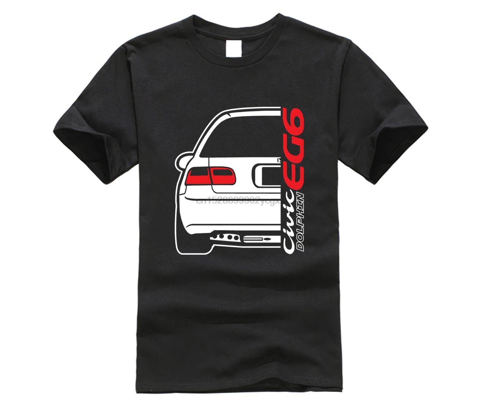 2019 Hot Venda do verão Estilo Japão Car Civic Dolphin EG6 CAMISETAS-shirt T engraçado
