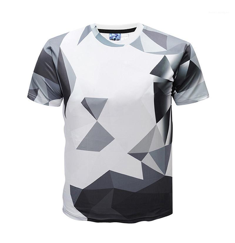 Piante magliette di modo bicchierini del manicotto 3D stampati Designer Mens Tops Casual Male magliette Homme Plaid Stampato Mens