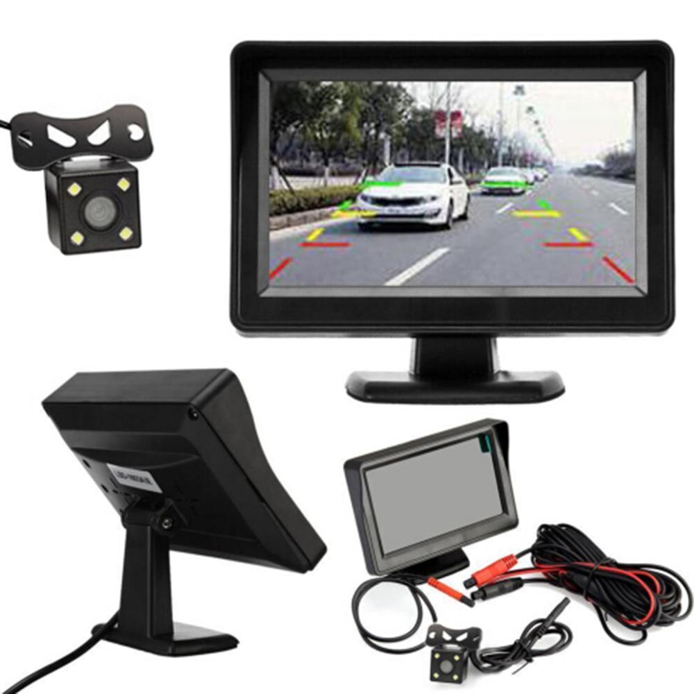 4.3inch 12V автомобильная камера заднего вида монитор резервного камера заднего Комплект ночного видения реверса парковки сзади System View
