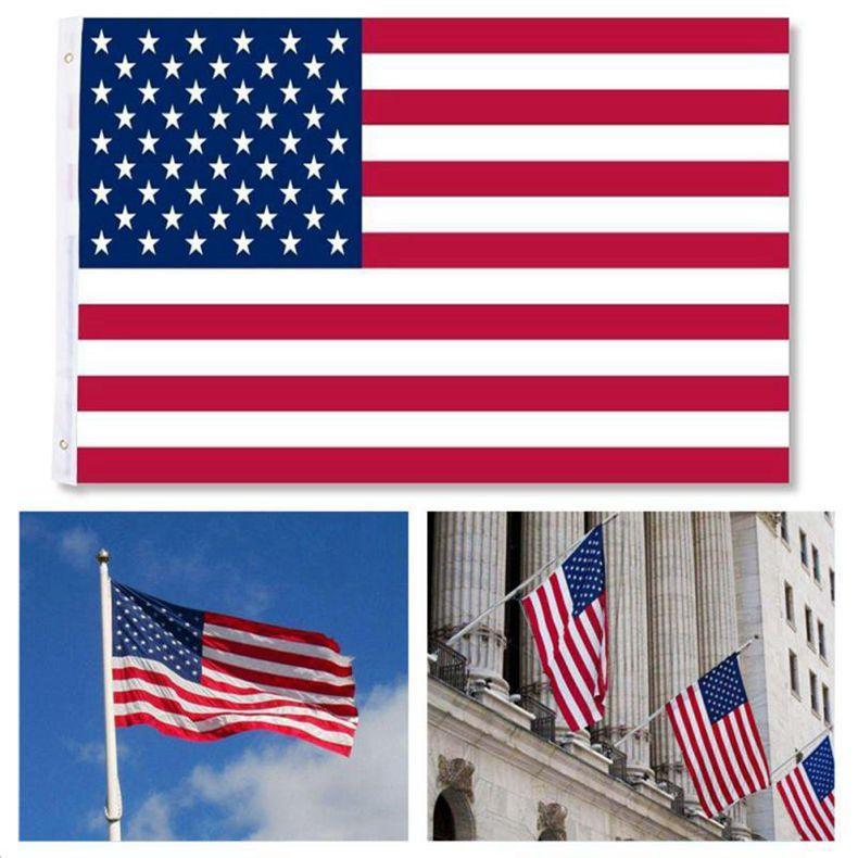30pcs gratuit Envoi usine directe gros 3x5Fts 90x150cm États-Unis Etoiles Stripes USA États-Unis d'Amérique Drapeau de l'Amérique