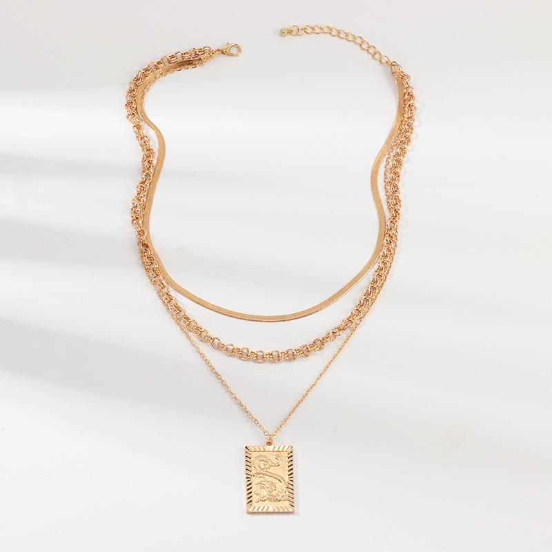 Сплав китайского дракона Тотем Choker ожерелье для женщин ювелирные изделия Collares Друзья Цепи Аксессуары Эстетика Подвеска XL10142