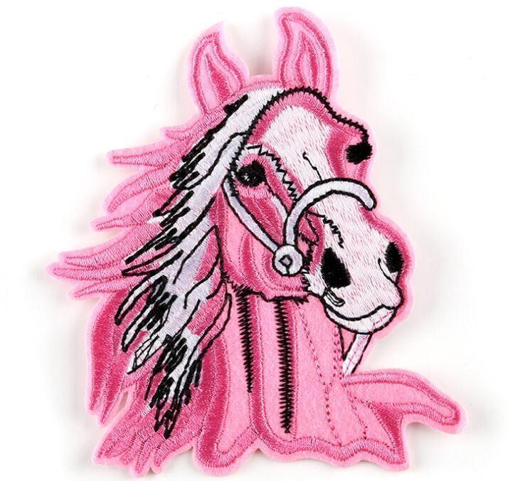 Alien Patch fiore rotondo zone del ricamo per il vestiario di DIY Stripes Appliques vestiti adesivi Ferro su Lion Horse Badges di trasporto 1116