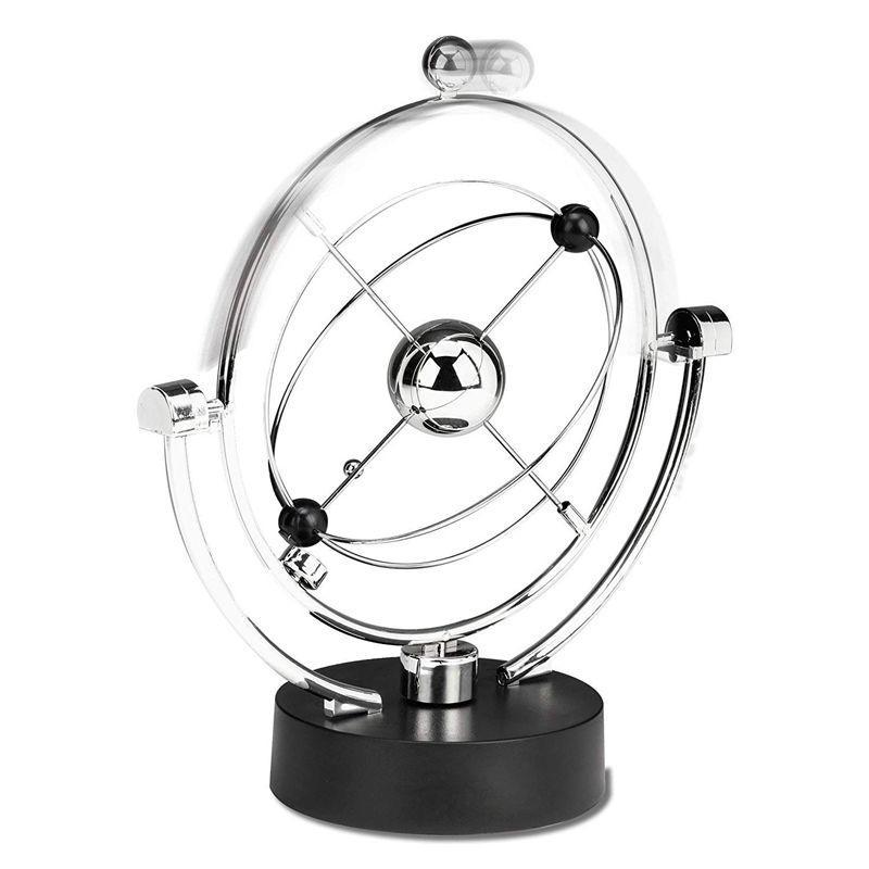 Perpetual Movimento Secretária Escultura Brinquedo - Arte Cinética Galaxy Planet Balance Mobile - Executivo Magnético Escritório Home Decor Tablep T