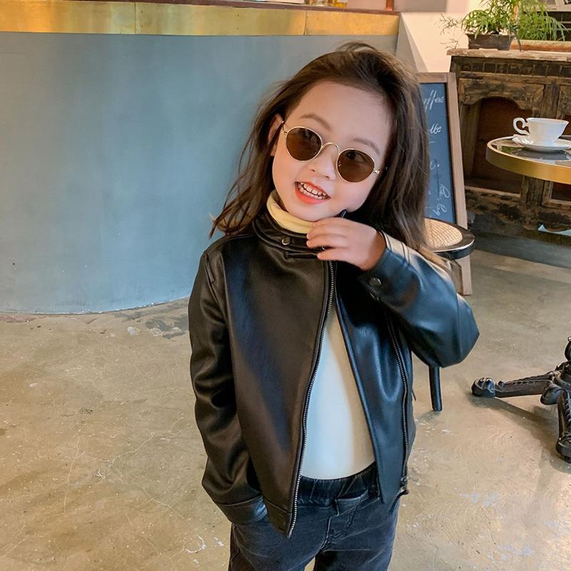 MILANCEl 2020 осени девочка пальто PU кожа дети куртка моды девочки одежда малыши куртка для мальчиков 0927