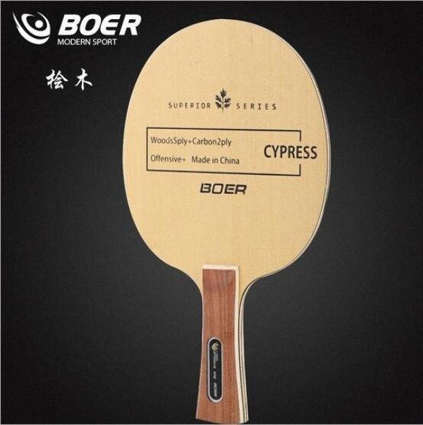Wholesale- BOER cypress table tennis racket blade 2wS1#