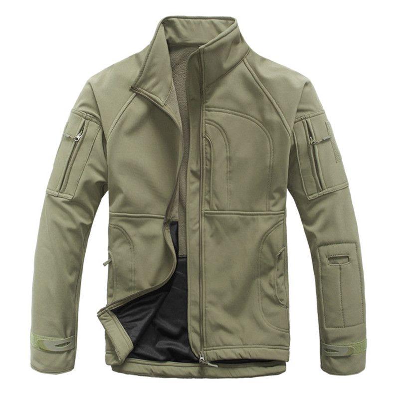 Deporte al aire libre Softshell TAD táctico chaqueta de los hombres de camuflaje del ejército ropa de la caza impermeable abrigos chaquetas senderismo camping