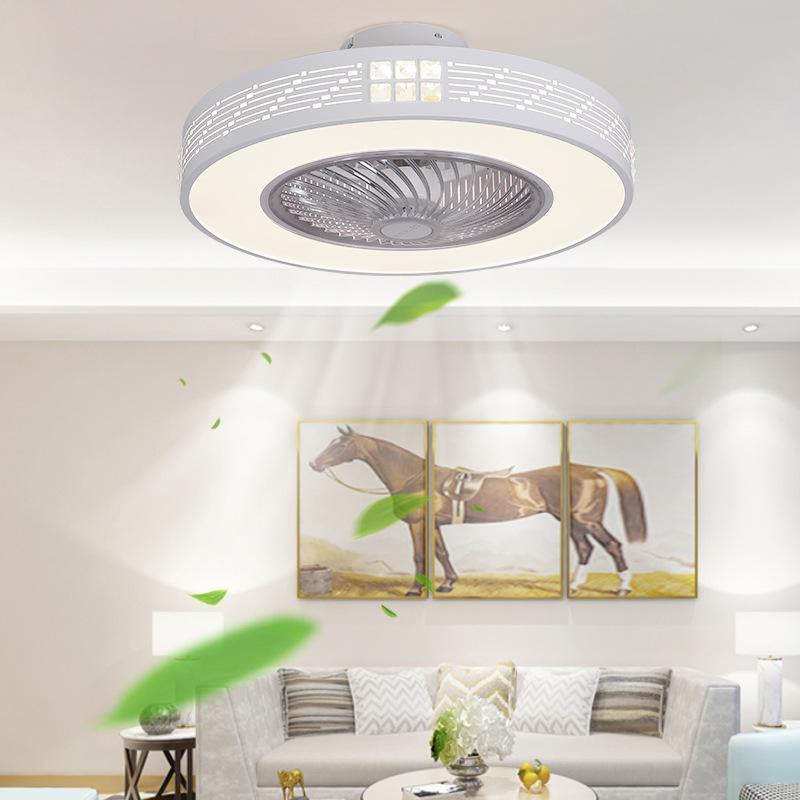 Fernbedienung Integrierte Intelligente Nordic Deckenventilator klassischen Esszimmer Schlafzimmer Invisible Mückenschutz Fan Lampe