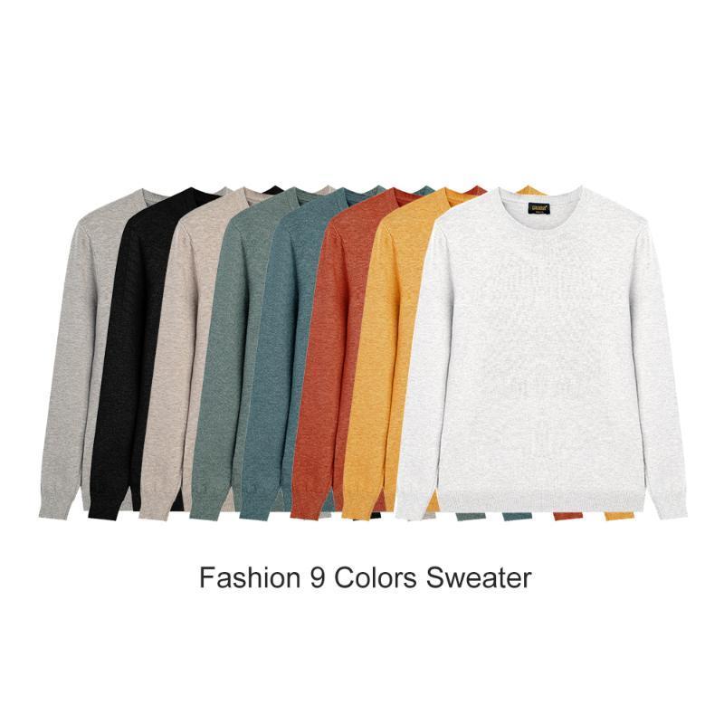BOLUBAO la moda de Nueva Hombres O-cuello del color sólido de los suéteres de los hombres delgados otoño suéter salvaje informal suéter suéter masculino