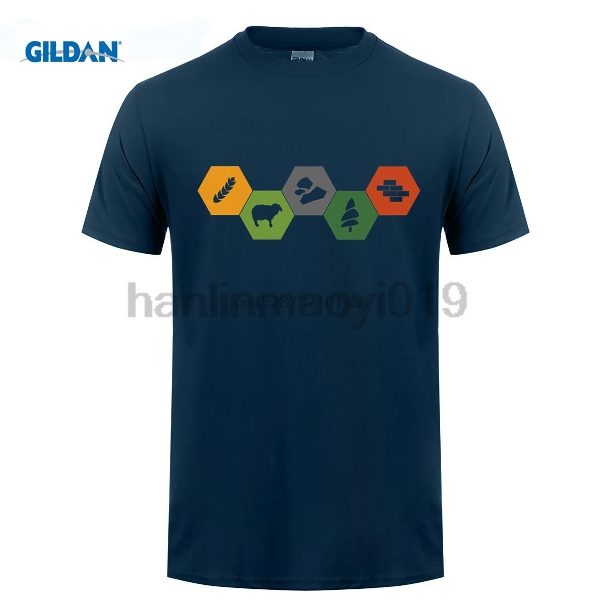 Colons de Catan Minimaliste couleur T-shirt