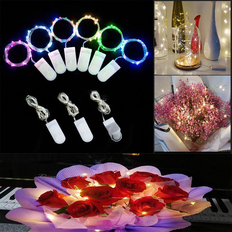 US STOCK LED Light cordes 3M Petit à piles LED Fil d'Argent Cuivre Chaîne Lumière pour Noël Halloween Party Decoration fy8123