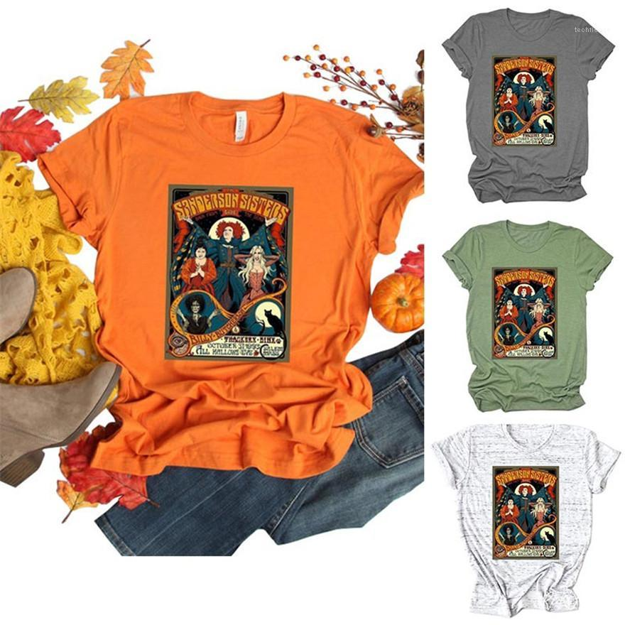 Ansatz Kurzschluss-Hülsen-lose Oberseiten-beiläufige plus Größe Femme Tees Halloween Damen-T-Shirts Designer Letters O