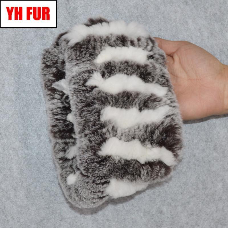 Cachecóis 2021 Real Rex Fur Ring Cachecol Mulheres de malha quente macio macio bom lenço natural elástico