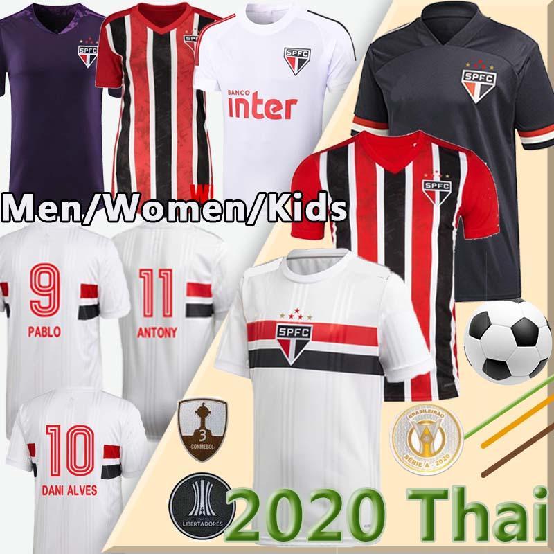 2021 2020 Сан-Паулу FC PATO Alves Главная White Mens Женщины трикотажные изделия футбола Эрнанес PABLO Сан-Паулу футбол рубашка Камиза де Futebol 20 21