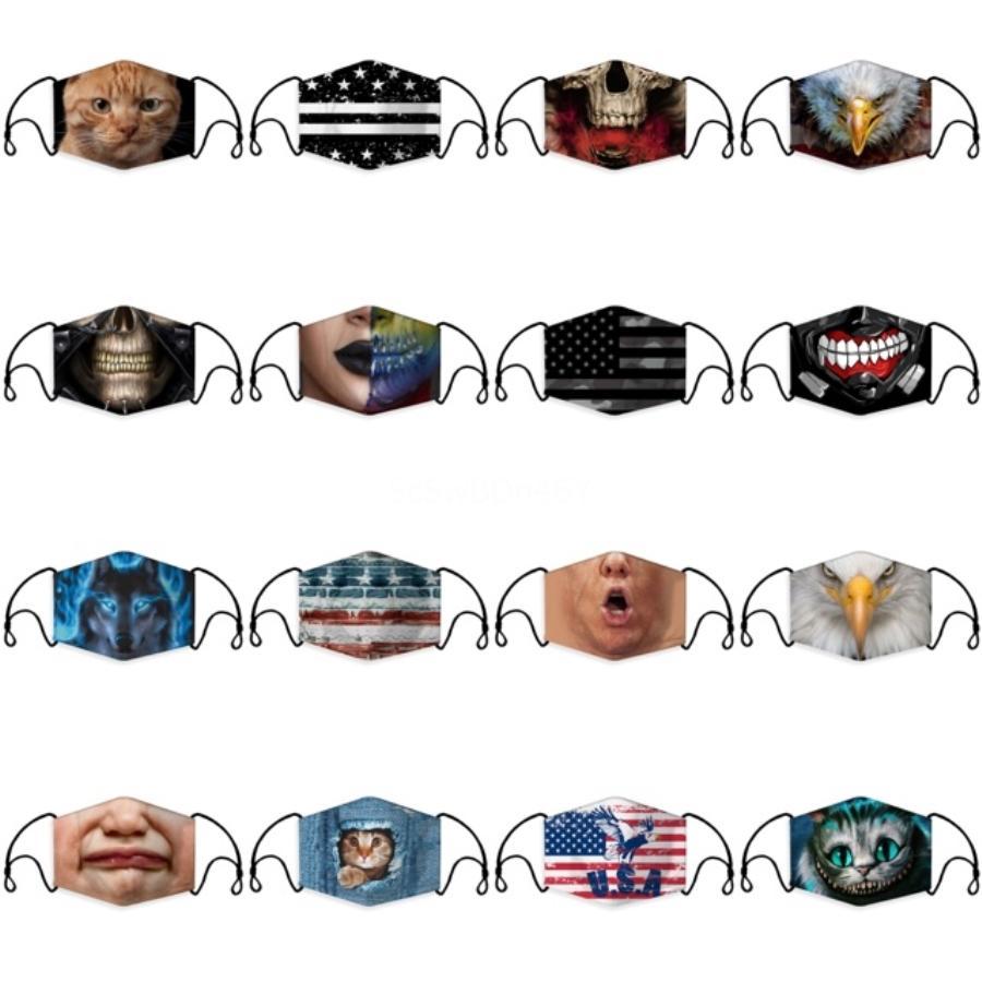 Großhandel Top-Qualität für Kinder Maske Baumwolle Bequeme Gesichtsmasken 3-Schicht-Modedesigner-Maske Adult Staubdichtes Earloop Masken 20200515 # 864