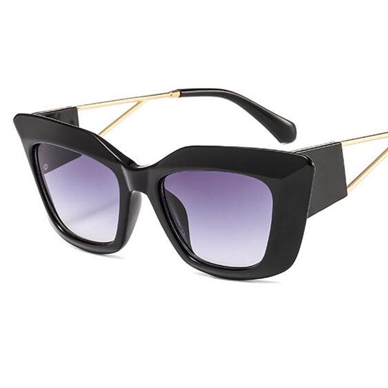 Nuovo gatto occhiali da sole dell'occhio Donne 2020 Vintage Grande cornice di pendenza Sung Lasses Shades stilista femminile UV400 Sunglass