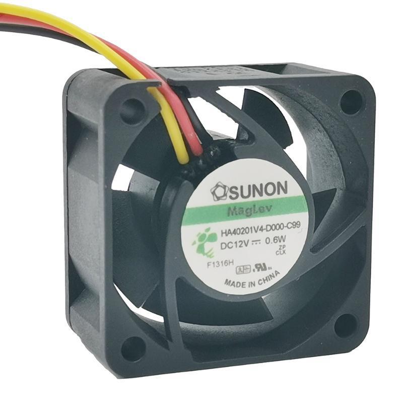 Вентиляторы Охлаждения для Sunon Maglev Fan HA40201V4-D000-C99 DC12V 0,6 Вт 4020 40 40 * 40 * 20 мм F Сервера Инвертор питания Осевое охлаждение 3Pin