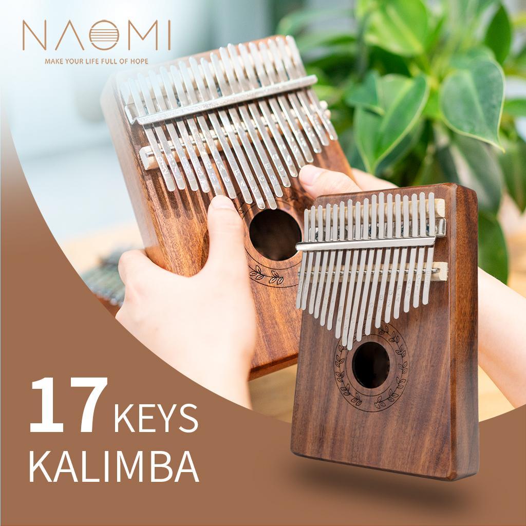 NAOMI 17 Tuşlar koa Kalimba Akustik Başparmak Piyano Ahşap Renk Kalimba