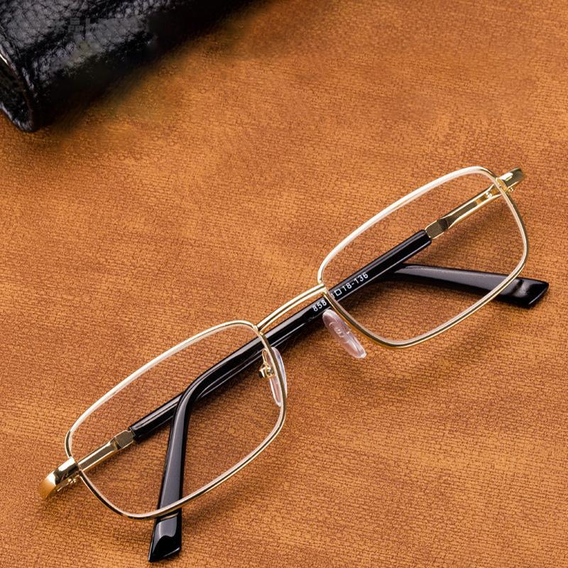 Sonnenbrille Glas Lesebrille Männer Frauen Natürliche Kristallobjektiv Dioptrien Brillen Anti Kratzer Anti-Ermüdung Eye-Schutz Lesen +100 150 200 250