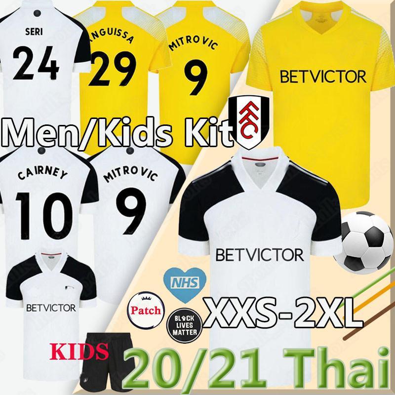 20 21 camisas de futebol Mitrovic Cairney FC 2020 2021 SERI I.CAVALEIRO ANGUISSA Lemina KNOCKAERT homens crianças kit camisas do futebol uniformes