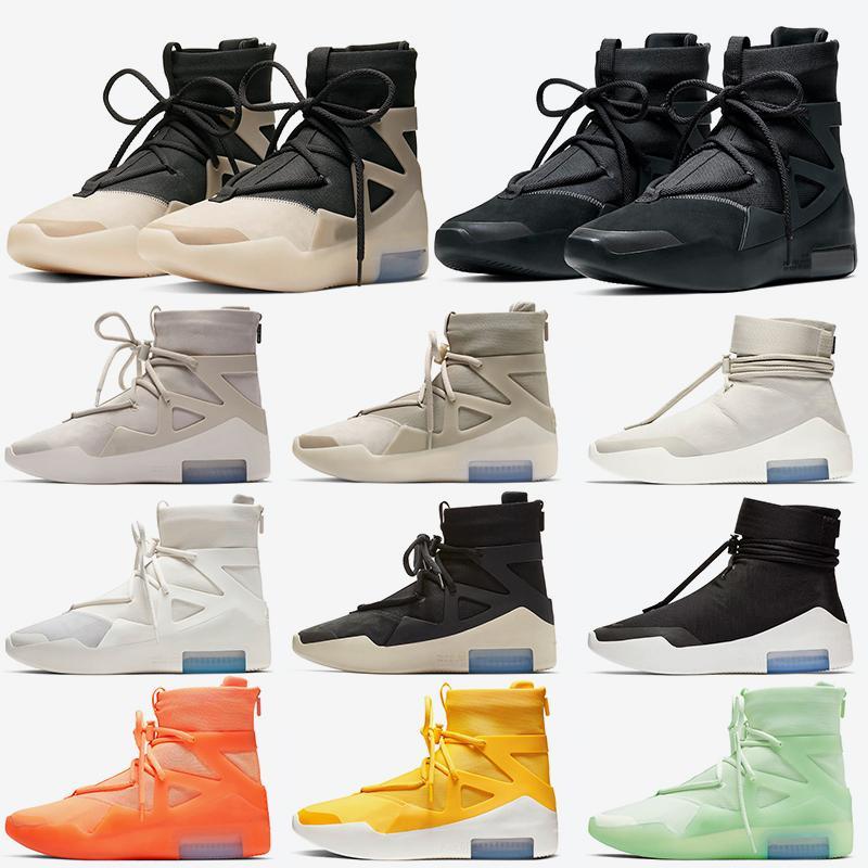 Air Fear of god 1 String The Question Triple Noir Femmes Hommes Basketball Chaussures Shoot Around Light Bone Outdoor Designer Baskets Sneakers