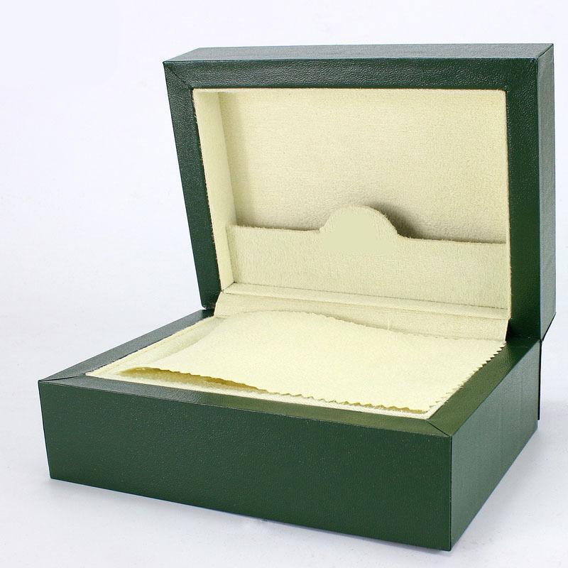 احدث اسلوب شحن مجاني الأخضر ووتش الأصلي مربع بطاقة أوراق محفظة هدية صناديق الخشب اليد لل116610 116660 116710 الساعات حالة