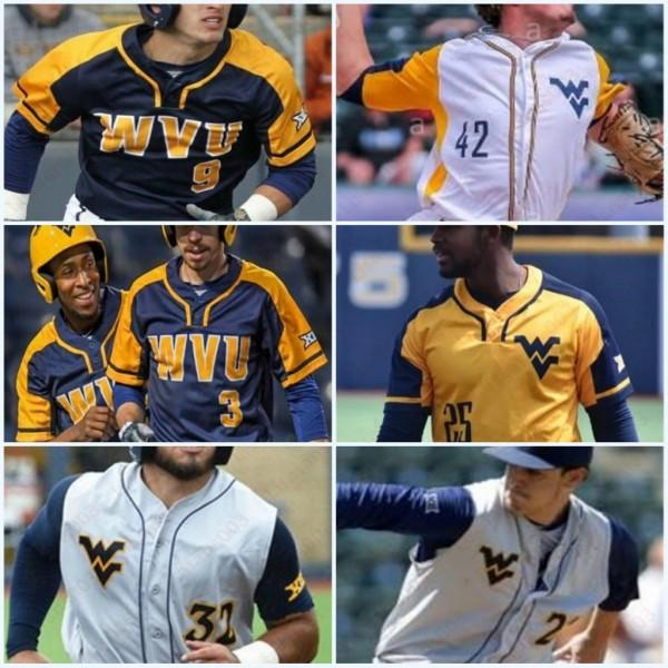 West Virginia Mountaineers Darius Hill Baseball Stitched Jersey Mens Donne Gioventù Tyler Doanes Ivan Gonzalez Marques Inman Kids Wvu Jerseys