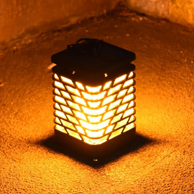 الطاقة الشمسية الشعلة مصباح ريترو محاكاة الديناميكية اللهب في الهواء الطلق مقاوم للماء فناء حديقة الحديقة مصباح المناظر الطبيعية