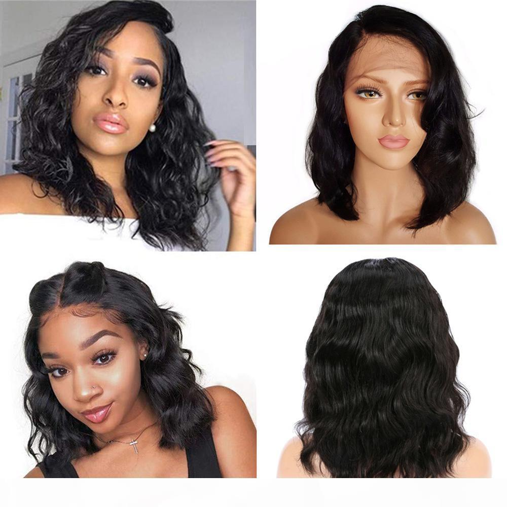9A Pre Plucked Full Lace Bob Wig With Baby Hair Body Wave Brazilian Virgin Short Lace Front Human Hair Wigs For Black Women