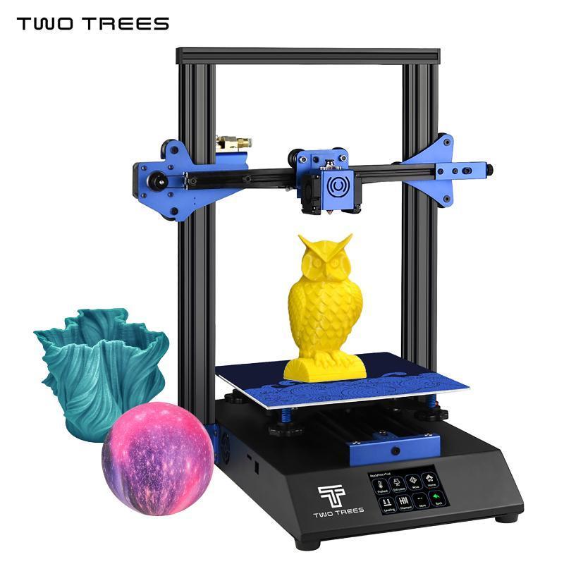 İKİ AĞAÇLAR daha mavi 3D Yazıcı Sessiz Baskı 235 3.5 inç dokunmatik Isıtmalı Yatak Devam ile * 235 * 280 mm Filament Detection yazdır
