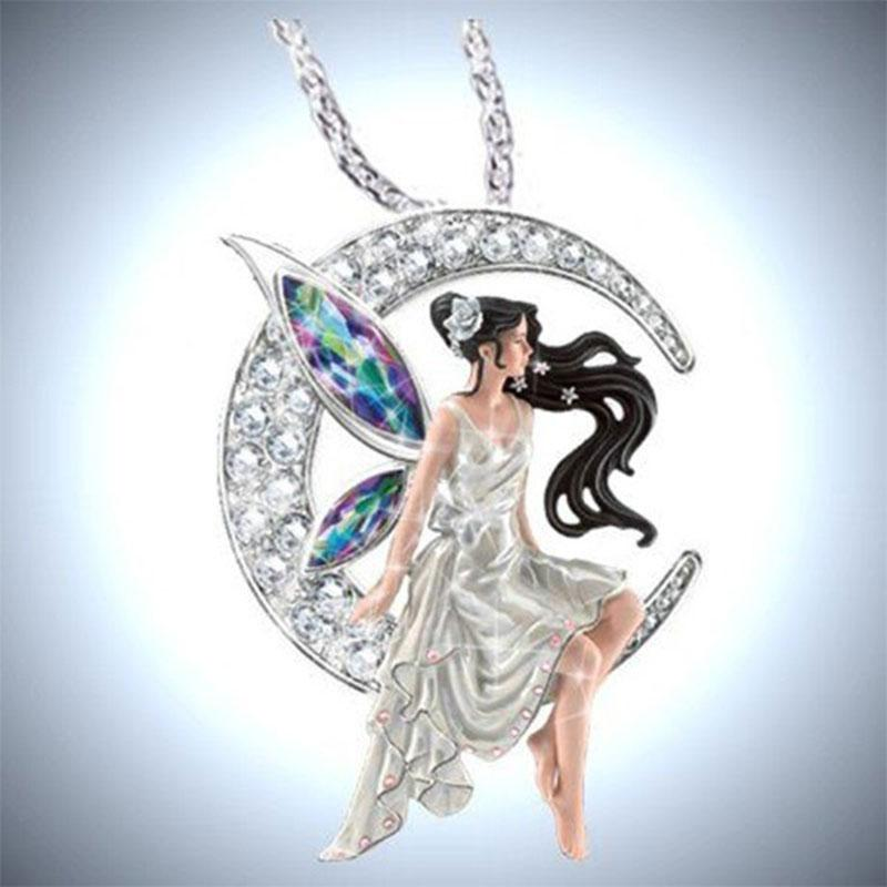 Collana Fata modo delle donne di cristallo di fascino della luna Normativa collana di fidanzamento gioielli regali di nozze di Dropshipping 2020 Nuovo