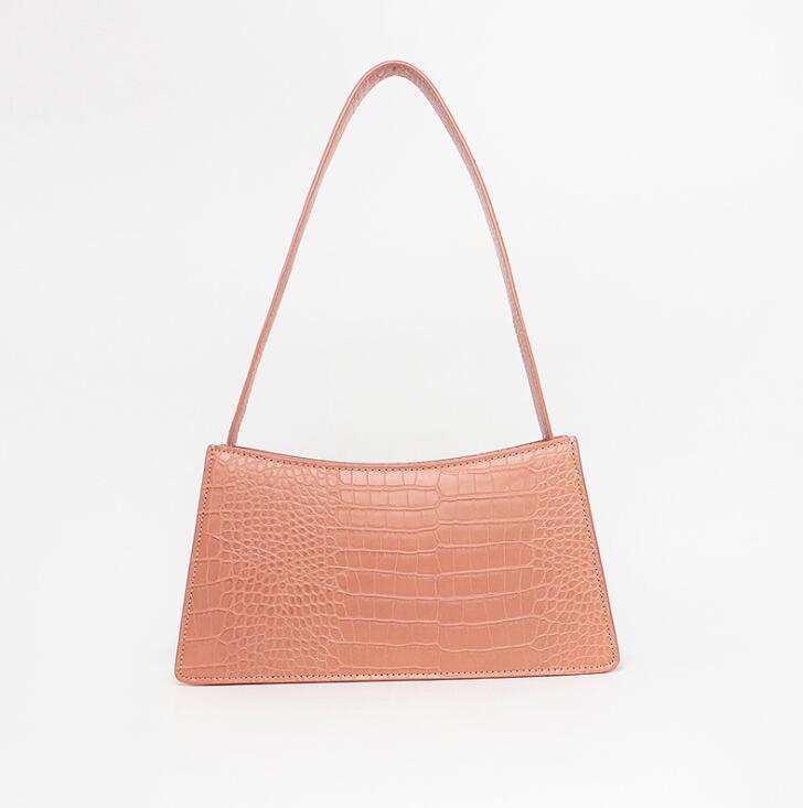 Moda Kadınlar omuz çantası Crossbody çanta timsah desen boş küçük kare çanta düz renk çanta