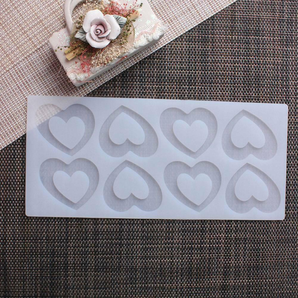 Chocolat Coeur Romantique Rose en silicone moule Outils de décoration de gâteau de petit gâteau Biscuits moule en silicone Muffin Pan de cuisson cadeau