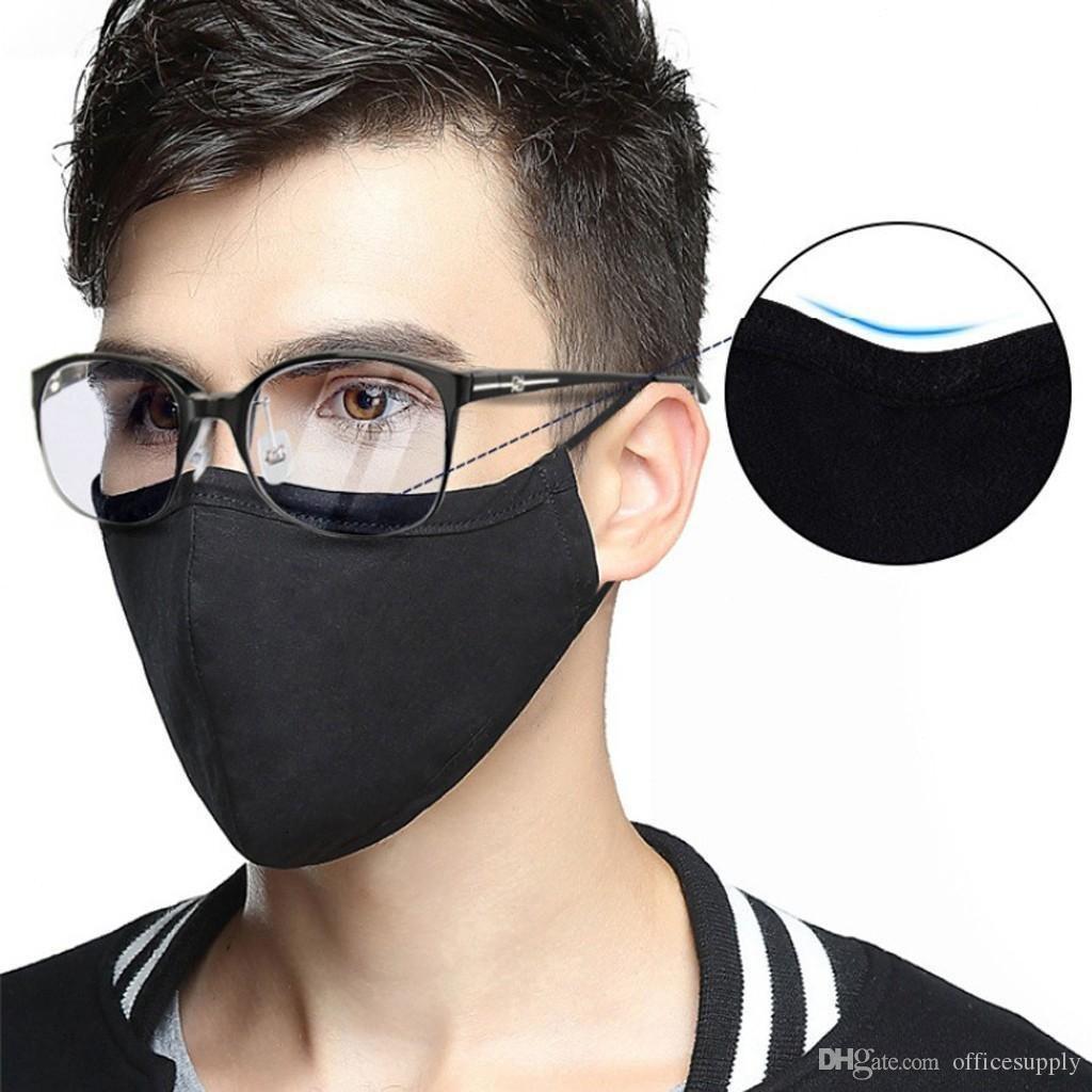 Maschera PM2.5 Bocca antivento Anti Cotone Bocca-muffola polvere regolabili maschere Buckle elastico traspirante Viso Y4pp #