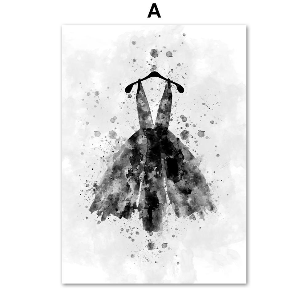 High Heels Lipstick Dress Makeups Wall Art Canvas Painting Posters And Prints Wall Pictures For Living Room Decor
