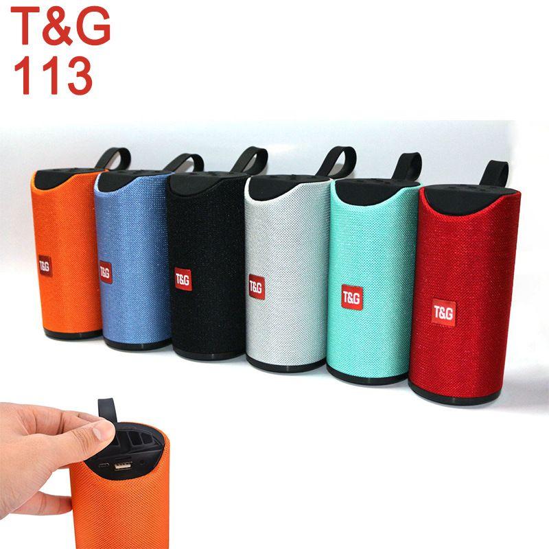 TG113 Громкоговоритель Bluetooth беспроводные колонки Сабвуферы Handsfree профиля вызова Stereo Bass Поддержка TF карт USB AUX Line In Привет-Fi Громкий DHL