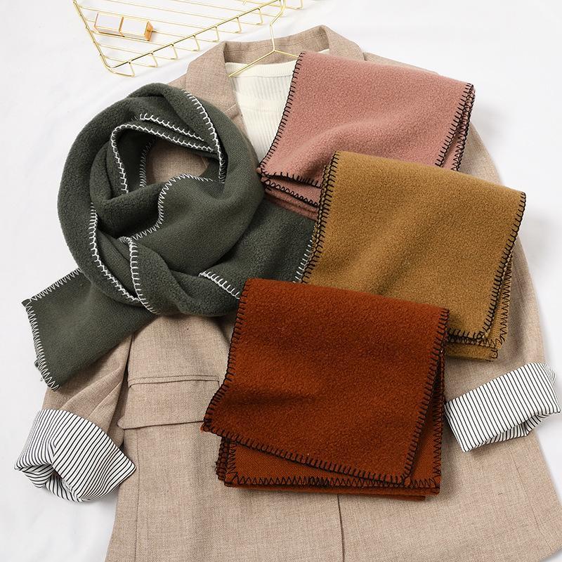 Dongdaemun Herbst und Winter Schal koreanische Art Frauen-Versatile verdickte Wollmischung weicher Kaschmir-Doppelseitige Dual-purpose-Schal