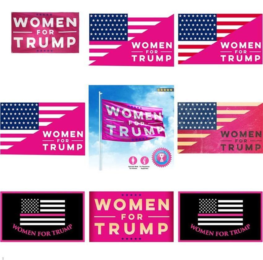 Trump Flags Wahl Frauen für Trump 3x5 Feet 100D Polyester 150x90cm Banner für Präsidentschaftswahl Flaggen DHL OWF1663