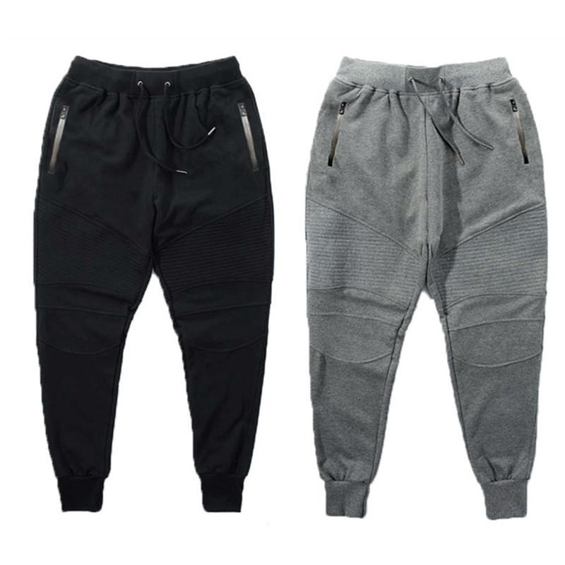 Aelfric Éden G -Dragon Corredores Sweatpants plissadas Simples Men Calças Pés Ninja Calças Homem Algodão Harem Pants Cozy Roupa Masculina