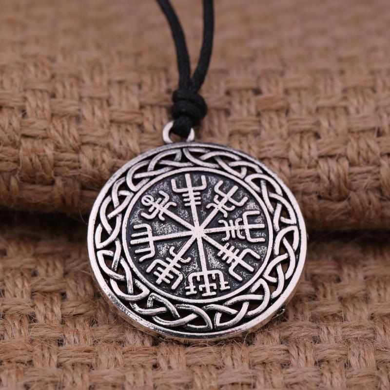 My Shape Moda Symbol of Norse Runic Rune Rune Rune Vegvisir Ciondolo Collana Collana Bussola con catena per donna Uomo Gioielli Viking